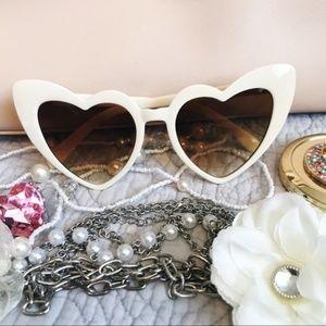 Cat Eye Heart Shaped Sunglasses